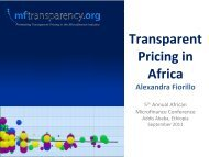 Transparent Pricing in Africa - MFTransparency.org