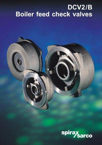 DCV2/B Boiler Feed Check Valves - Spirax Sarco