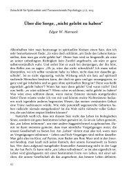 """Über die Sorge, """"nicht gelebt zu haben"""" - Zeitschrift für Spiritualität ..."""