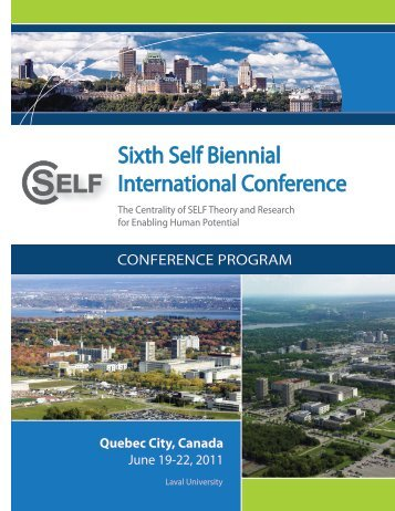 Sixth Self Biennial International Conference - University of Western ...