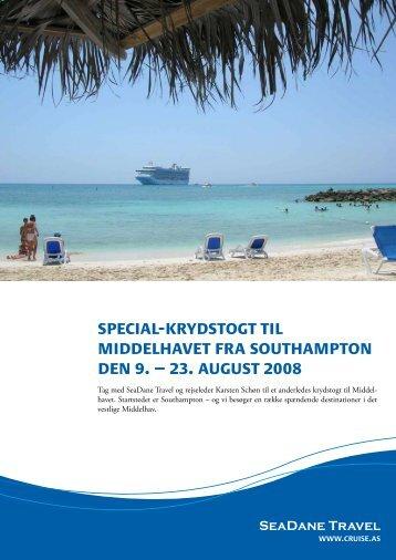 special-krydstogt til middelhavet fra southampton ... - Seadane Travel