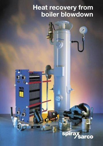 Heat recovery from boiler blowdown - Spirax Sarco