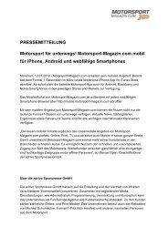 Motorsport-Magazin.com wird mobil! - adrivo media