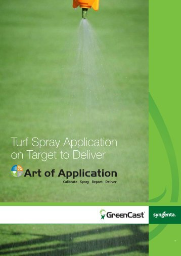 Turf Spray Application on Target to Deliver - GreenCast