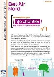 Télécharger le journal Info Chantier Bel Air Nord n°1