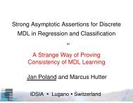 Strong Asymptotic Assertions for Discrete MDL in ... - of Marcus Hutter