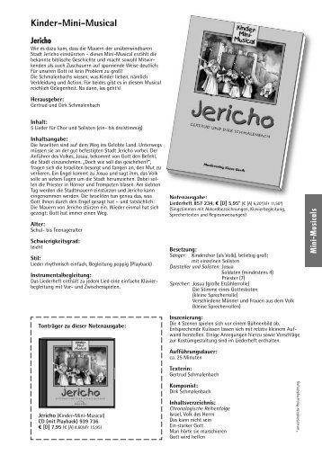 Kinder-Mini-Musical Jericho - Bodensee-Musikversand