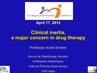 Download presentation - The Belgian Pharmaceutical Conference