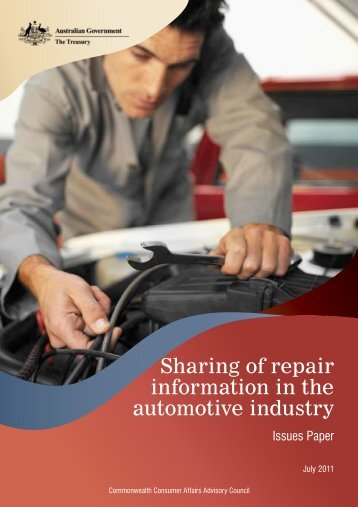 CCAAC Issues Paper - Australian Automotive Aftermarket Association