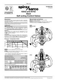 KX43 and KY43 Steel Self-acting Control Valves - Spirax Sarco