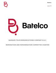 bahrain telecommunications company bsc ... - Batelco Group