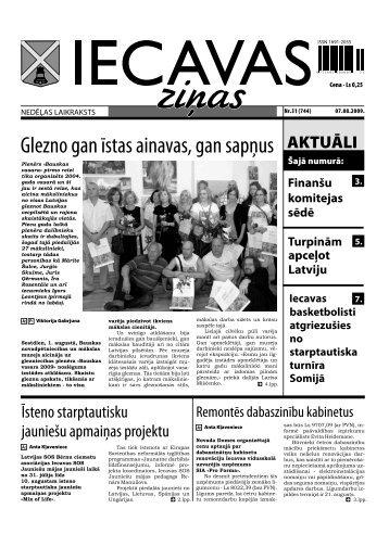07.08.2009 (Nr.31) - Iecavas novads