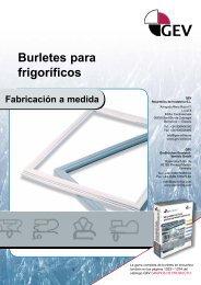 Burletes para frigoríficos Fabricación a medida - Gev-online.es