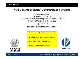Next-Generation Optical Communication Systems