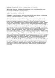 Conference: Symposium for Research in Protected Areas, 10-12 ...