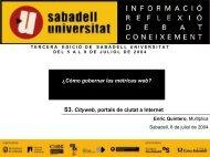 Medición en eGovernment - Sabadell Universitat
