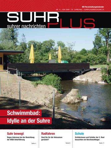 Schwimmbad: Idylle an der Suhre