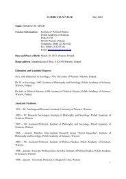 PDF, 97Kb - Instytut Filozofii i Socjologii PAN
