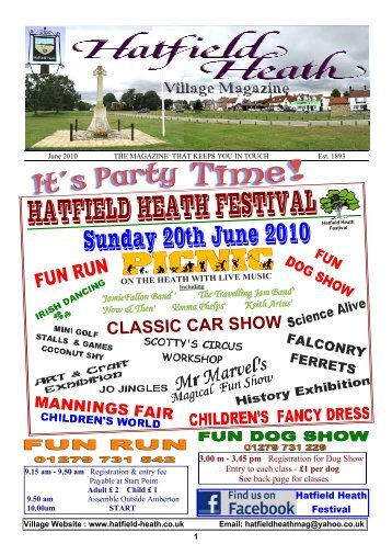 June2010 Edition - Hatfield Heath Village Magazine