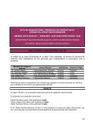 1/4 acta de selecció final i proposta de contractació - Ajuntament d ...