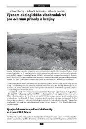 Význam ekologického vinohradnictví pro ochranu přírody a krajiny