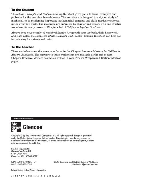 glencoe division macmillan mcgraw hill practice worksheet answers