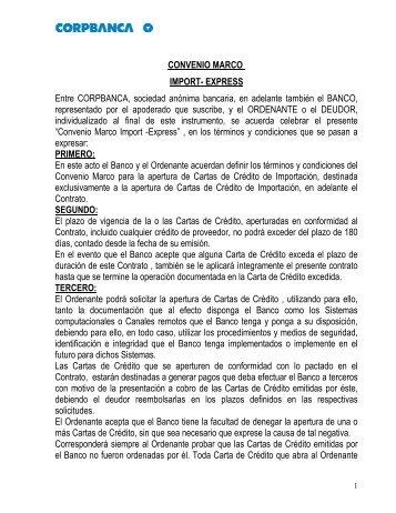 CONTRATO DE APERTURA DE LINEA DE CREDITO - Corpbanca