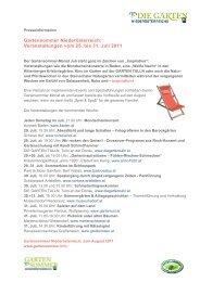Veranstaltungen vom 25. bis 31. Juli 2011