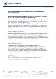 Värdighetsgarantier för anhörigstöd och ... - Sotenäs kommun