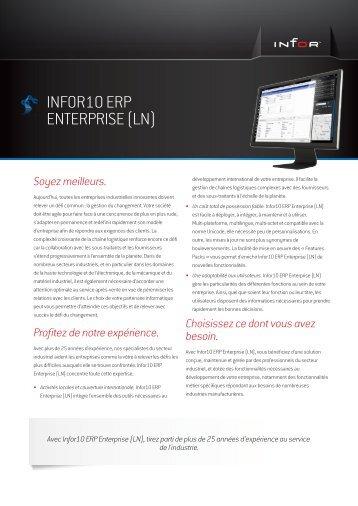 INFOR10 ERP ENTERPRISE (LN) - Manufacturing.fr