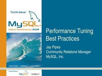Performance Tuning Best Practices - join-fu!