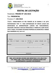 araguari - Governo do Estado de Minas Gerais