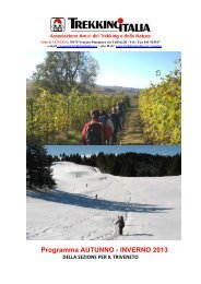 Programma AUTUNNO - INVERNO 2013 - Trekking Italia