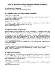 2013. május 23-i elnökségi ülés jegyzőkönyve - Veszprém Megyei ...