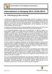 Informationen zu Düngung 2013 (19.06.2013) - LTZ Augustenberg