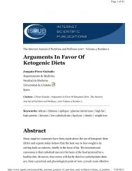 Arguments in favor of ketogenic diets - Nutrition and Metabolism ...