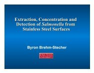 Extraction, Concentration and Detection of Salmonella from ...
