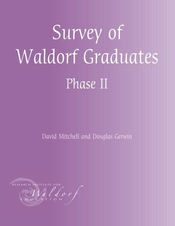 Survey of Waldorf Graduates - phase 2 - European Council for ...