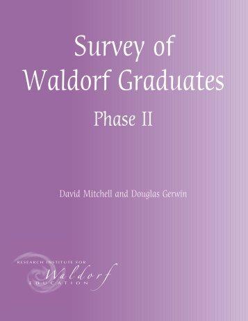 Survey of Waldorf Graduates - phase 2 - European Council for ...