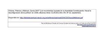 OSAL 22.indb - Red de Bibliotecas Virtuales - Clacso