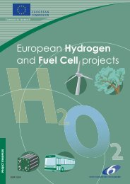 European hydrogen and fuel cells projects