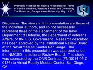PTSD Related to Combat in Iraq and Afghanistan & VRGET