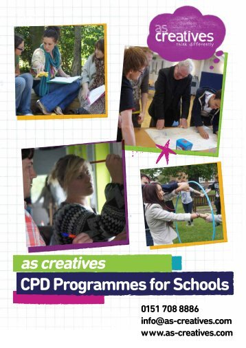 Download the School INSET and CPD Programmes ... - As Creatives
