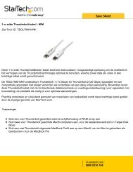 1 m witte Thunderbolt-kabel - M/M StarTech ID: TBOLTMM1MW ...