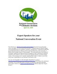 Expert Speakers List - ICLEI Local Governments for Sustainability USA