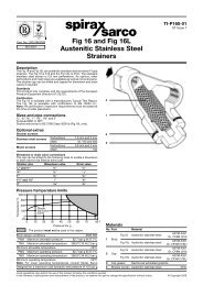 Fig 16 and Fig 16L Austenitic Stainless Steel Strainers - Spirax Sarco