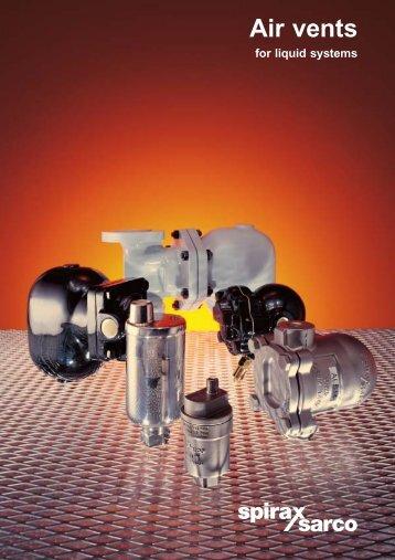 Air Vents for Liquid Systems - Spirax Sarco