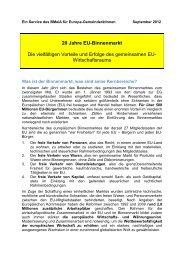 20 Jahre EU-Binnenmarkt Die vielfältigen Vorteile und ... - Traismauer