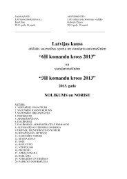 6H Latvijas kausa gada nolikums 2013