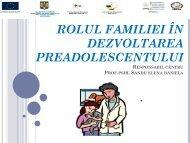 ROLUL FAMILIEI ÎN DEZVOLTAREA PREADOLESCENTULUI